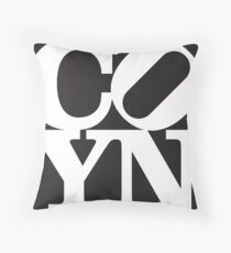 Nix Love (Black) Throw Pillow