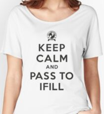Keep Calm, Pass to Ifill (Black) Relaxed Fit T-Shirt