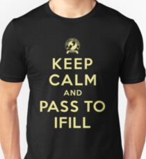 Keep Calm, Pass to Ifill (Yellow) Slim Fit T-Shirt