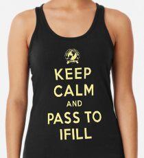 Keep Calm, Pass to Ifill (Yellow) Racerback Tank Top