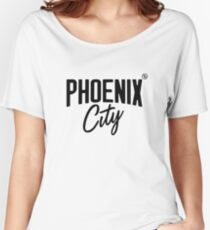 Phoenix City (Black) Relaxed Fit T-Shirt