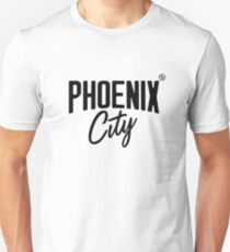 Phoenix City (Black) Slim Fit T-Shirt