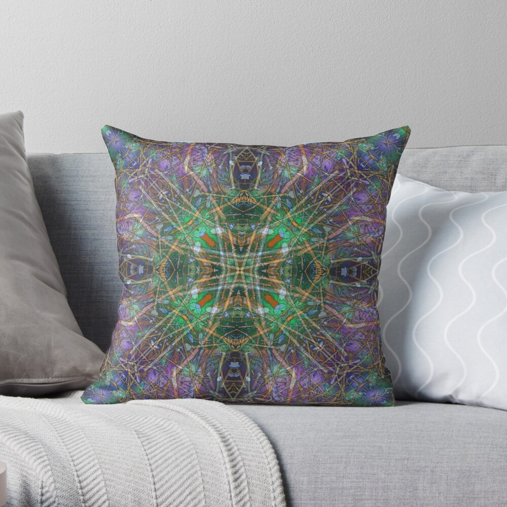 TWIGS THEORY ABSTRACT 4 Throw Pillow