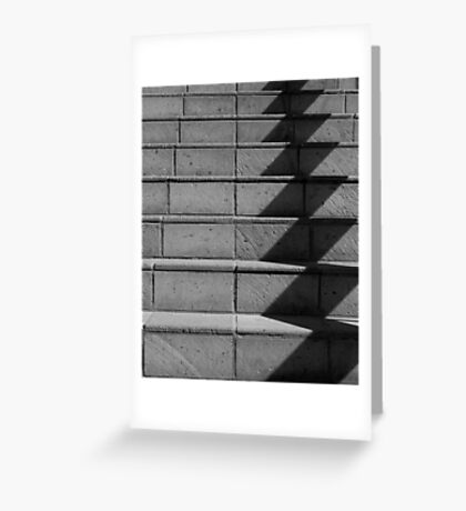 Abstract Stairs in B&W  Greeting Card
