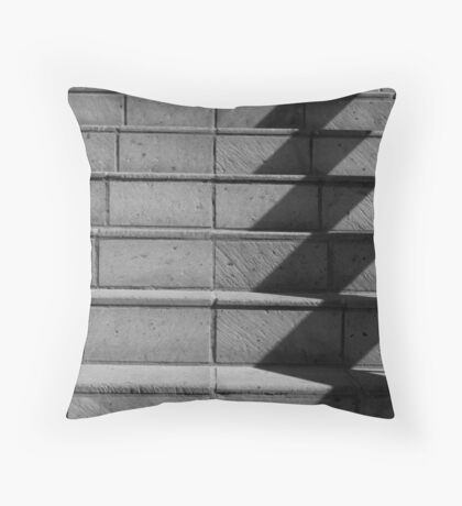 Abstract Stairs in B&W  Throw Pillow