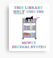Diese Bibliothek verwendet nur das Mewey-Dezimalsystem Leinwanddruck