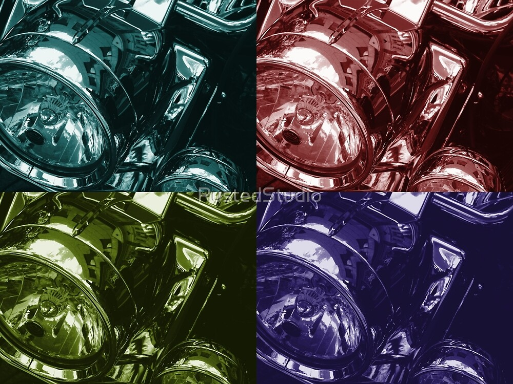 Harley Motorcycle four color by RustedStudio