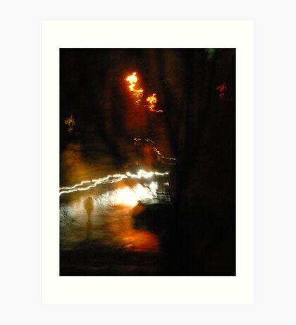 """City Life - """"Stranger in the night"""" Art Print"""