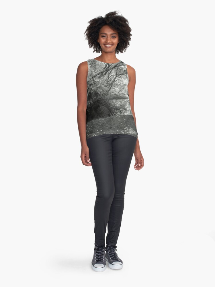 Alternate view of Reflecting infrared Sleeveless Top