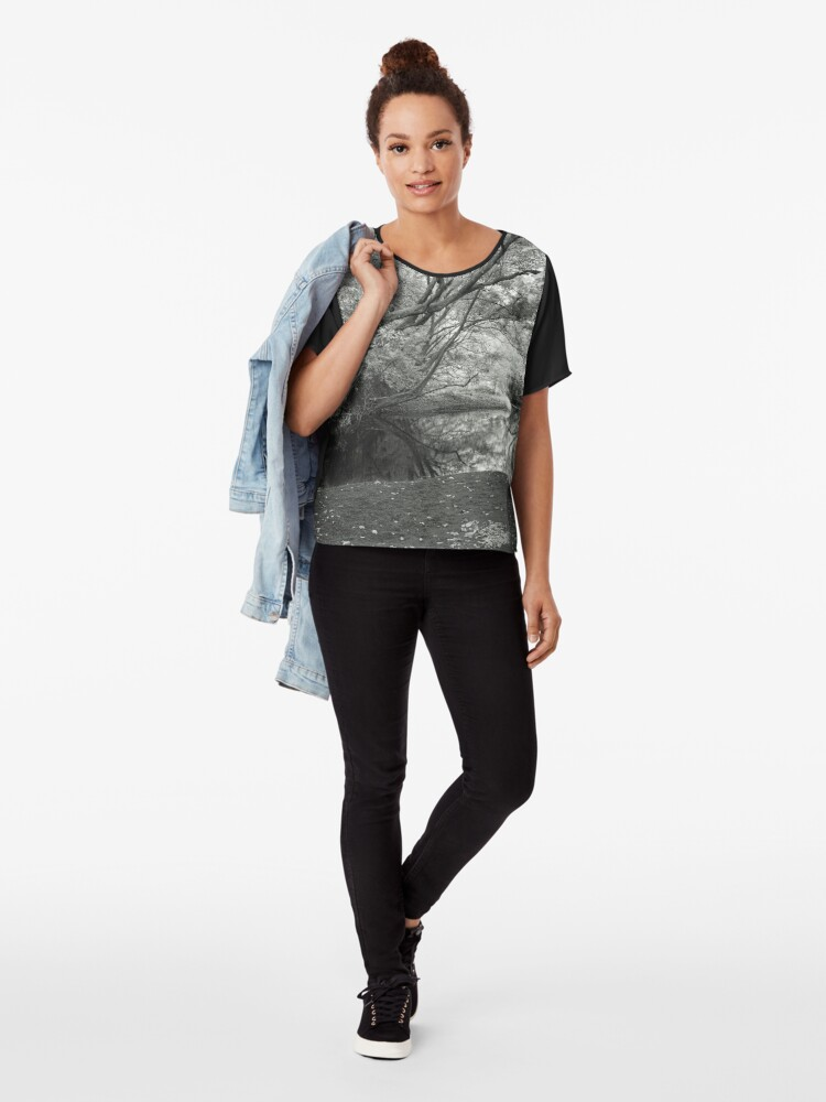 Alternate view of Reflecting infrared Chiffon Top