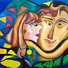 abstract kissing woman by BBS ART