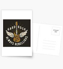 Hard Rock Always Rebellious Postcards