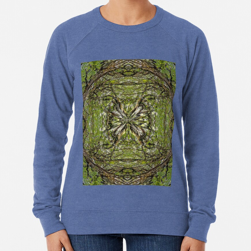BIG LEAF MAPLE TREE MANDALA 2 Lightweight Sweatshirt