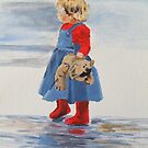 Teddy and Red Wellies by Susan Brown
