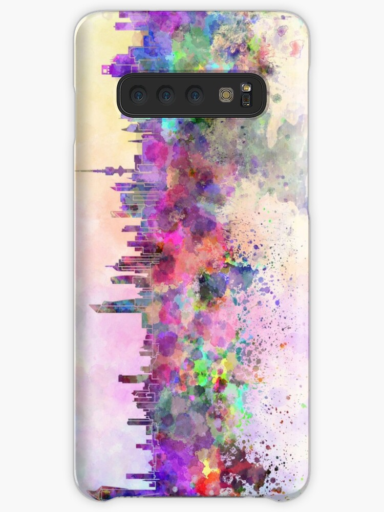 'Kuwait City skyline in watercolor background' Case/Skin for Samsung Galaxy  by paulrommer