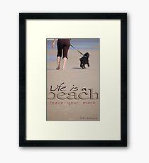 Life Is A Beach © Vicki Ferrari Framed Print