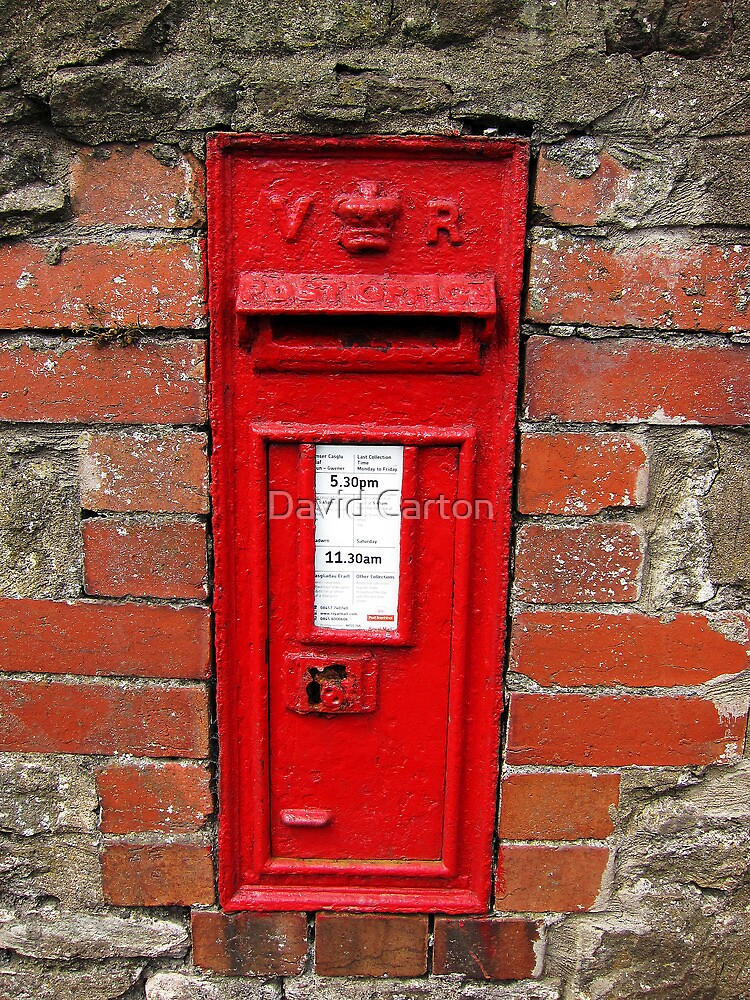 Old Victorian postbox, Usk, Wales, UK by David Carton