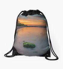 Rocky Woodside Bay Beach Isle Of Wight Drawstring Bag