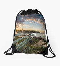 Fishbourne Sunset Isle Of Wight Drawstring Bag