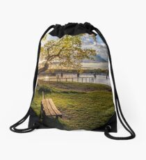 Seat Beside The Creek Fishbourne Isle Of Wight Drawstring Bag