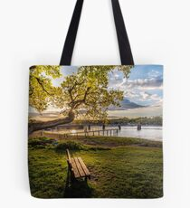 Seat Beside The Creek Fishbourne Isle Of Wight Tote Bag