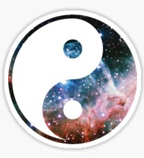 Thor's Helmet Nebula | Yin and Yang Symbol Sticker