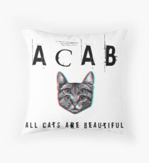 ACAB - All Cats Are Beautiful Throw Pillow