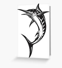 jumping marlin Greeting Card
