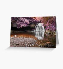 Fantasy Falls - West Burton Greeting Card