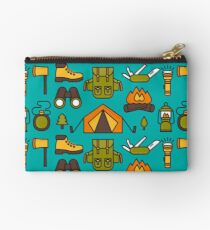 Camping Pattern Studio Pouch