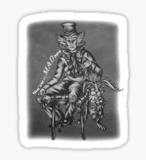 Chalk Mad Hatter with March Hare Wonderland Drawing Sticker