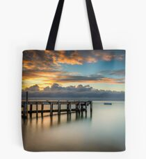 Woodside Jetty Sunset Isle Of Wight Tote Bag