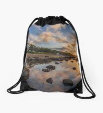 Woodside Lodge Retreat Sunset Isle Of Wight Drawstring Bag