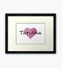 Tatiana Pink Heart Lámina enmarcada