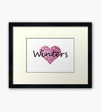 Winters Pink Heart Lámina enmarcada