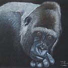 "Silver back Gorilla ""contemplation"" by cathyscreations"