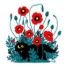 Poppy cat by hellocloudy