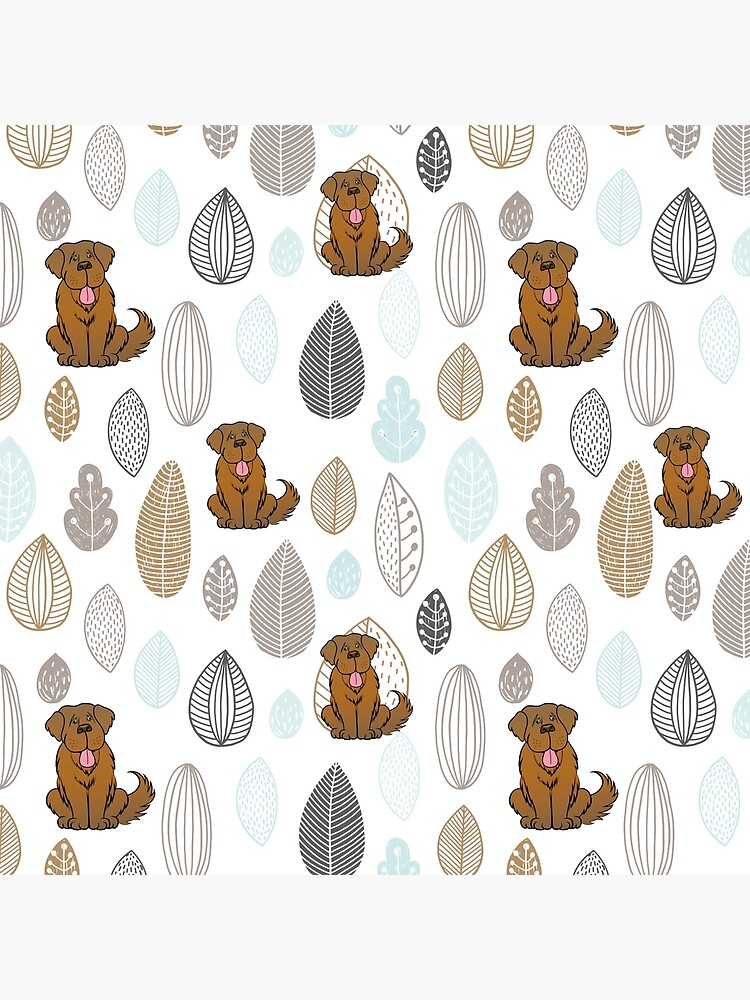 Brown Newfie Pattern by itsmechris