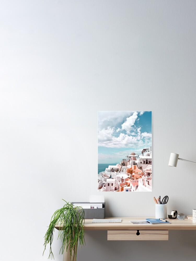 Alternate view of Santorini Oia Greece Poster