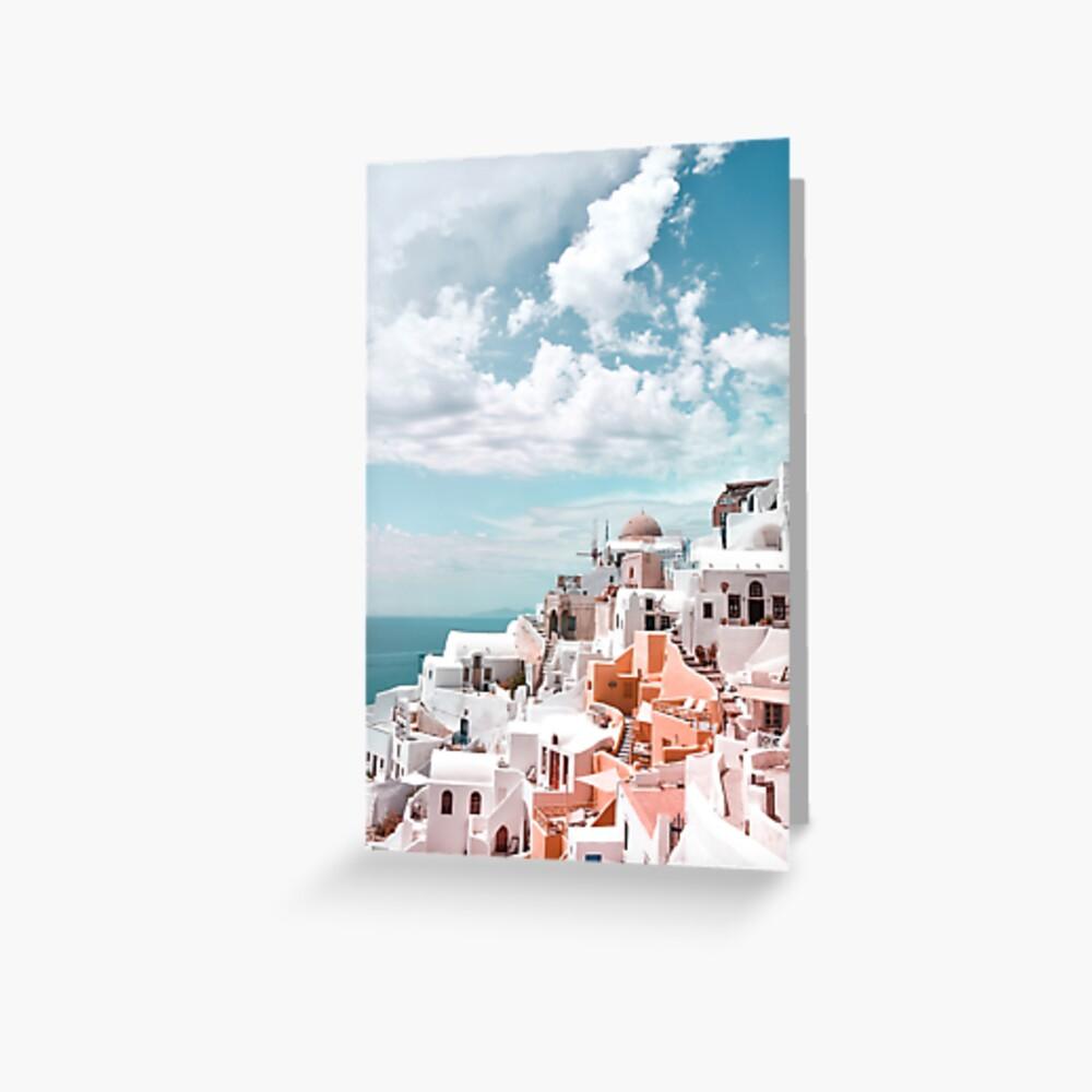 Santorini Oia Greece Greeting Card