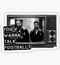 Wanna talk football? Sticker
