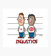 Injustice Design - Hand draw by Cazo  Photographic Print