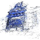 Flinders Street Station in blue by Mitchell Harrop