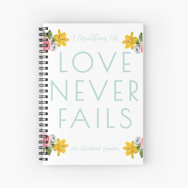 Love Never Fails - 2019 Convention Spiral Notebook