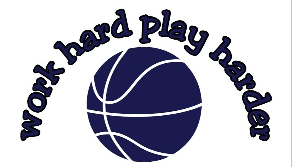 Work Hard Play Harder Basketball Motivation By Royalcollector