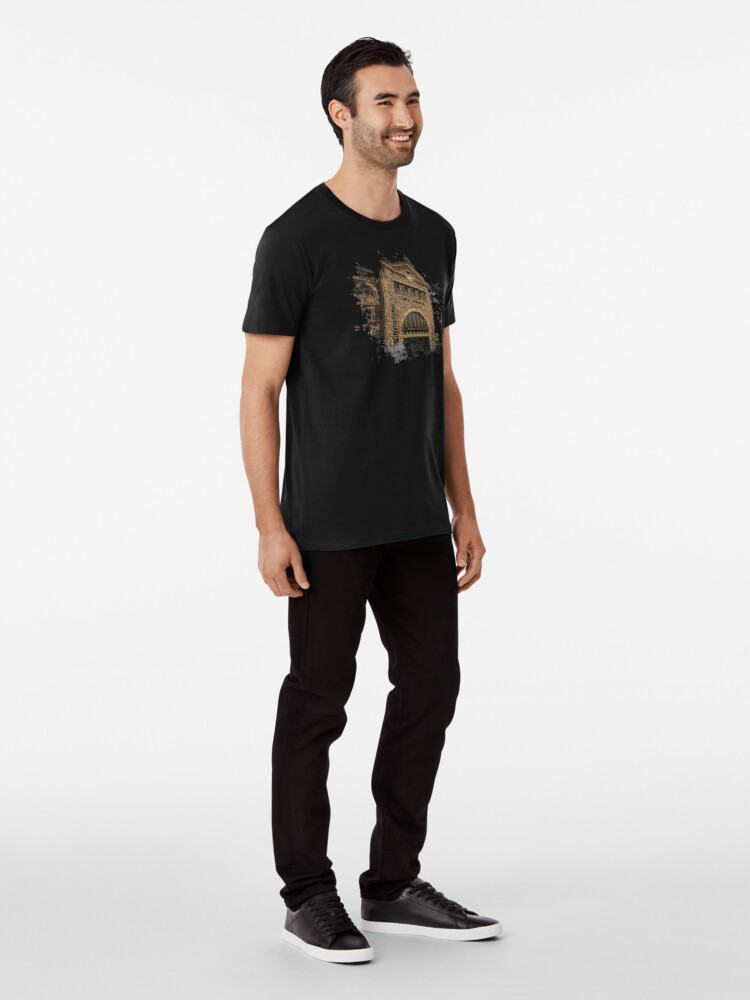 Alternate view of Flinders Street Station 3D Premium T-Shirt