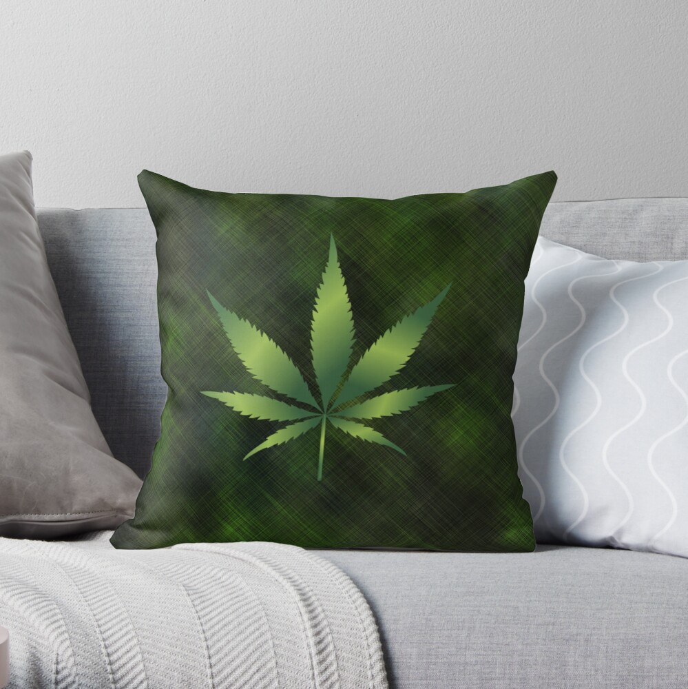 Forest of Marijuana Cannabis Pot Hemp 420 Whiny Weed Throw Pillow