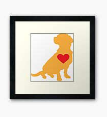Mixed Breed Silhouette Framed Print