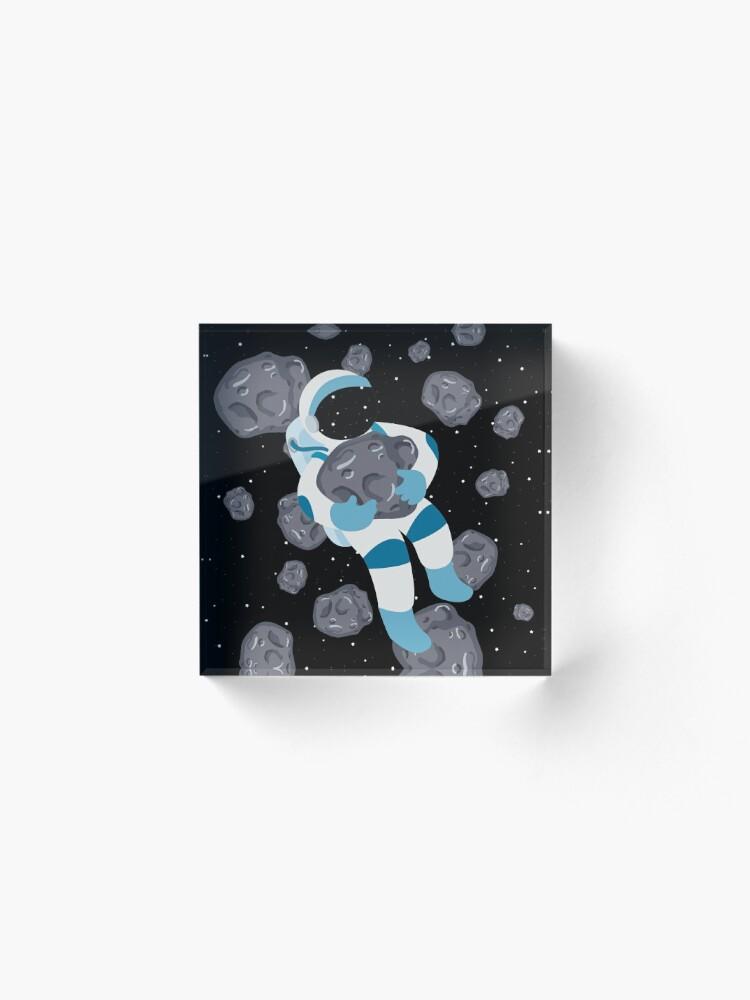 Alternate view of Asteroid Hugs Acrylic Block