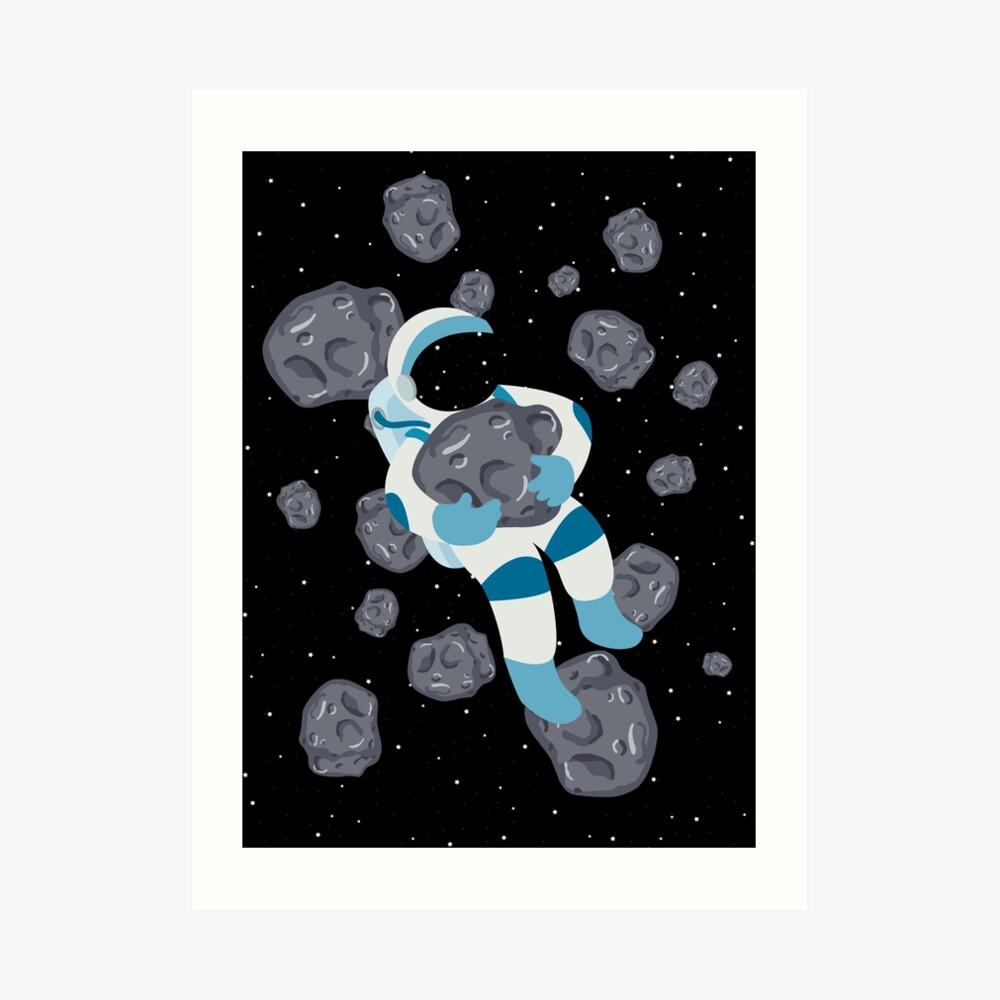 Asteroid Hugs Art Print